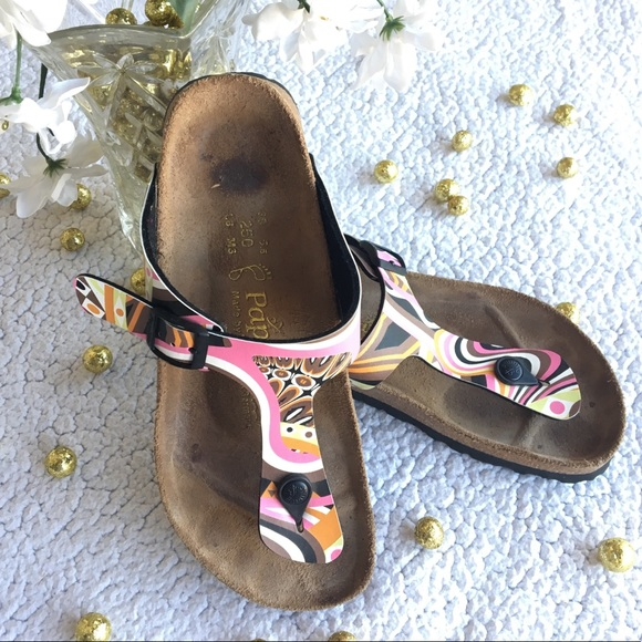 0a3f56db4afe Birkenstock Shoes - Papillio Birkenstocks Gizeh Sandals Colorful Print